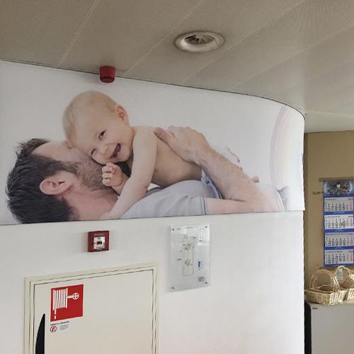 kantoor restyling voor Nutricia door Blomsma Print & Sign