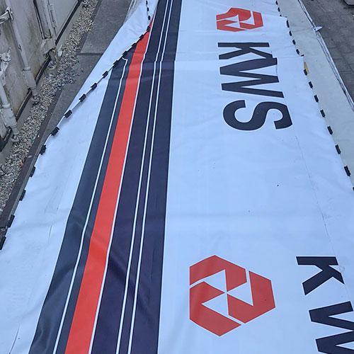 Vernieuwing lichtbak KWS Infra Rotterdam door Blomsma Print & Sign