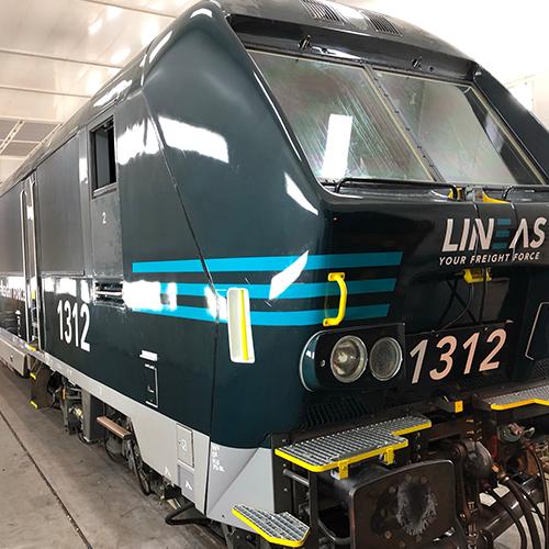Lineas locwrapping treinbestickering locomotieven wrap Blomsma Print & Sign