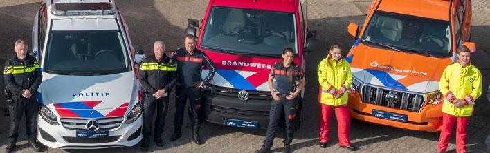 Blomsma Print & Sign vernieuwde OOV striping openbare orde en veiligheid politie brandweer ambulance