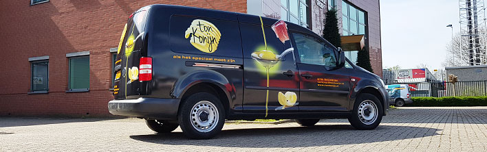 Blomsma Print & Sign Ton Konijn autobestickering full carwrap caddy