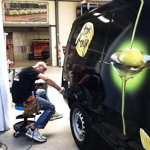 Blomsma Print & Sign Ton Konijn autobestickering full carwrap caddy