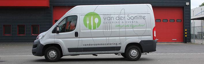 Van der Somme catering Blomsma Print & Sign bestelbus bestickeren wrappen
