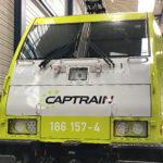 loc bestickering bombardier TRAXX Captrain Blomsma Print & sign trainwrapping locwrapping
