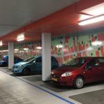 parkeergarage wandvisuals entreeborden restyling Blomsma Print & Sign Gemeente Zoetermeer