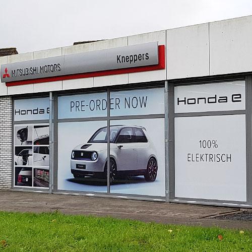 Gevelreclame Autobedrijf Kneppers Honda E.