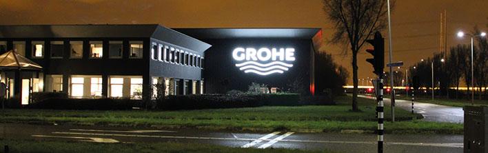 gevelreclame Grohe Zoetermeer