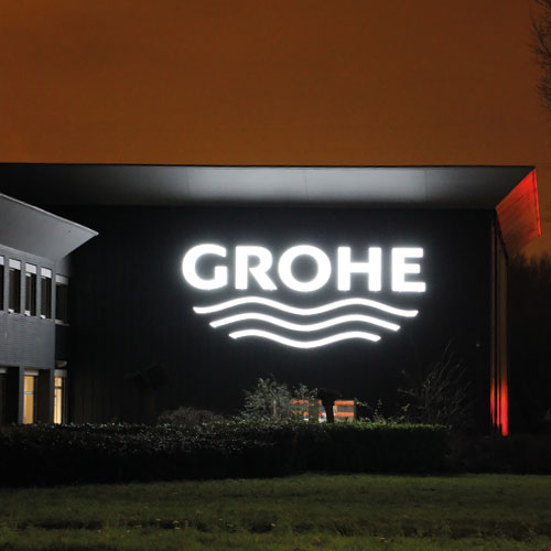 Grohe Zoetermeer gevelreclame Blomsma Print & Sign