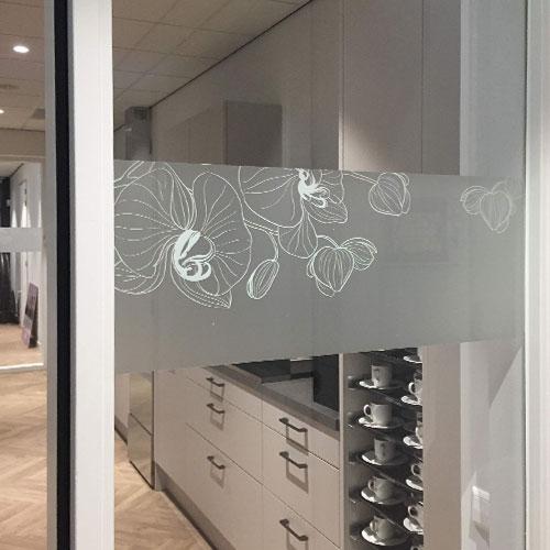 Interieurdecoratie Afscheidshuys Valckenhorst Sliedrecht door Blomsma Print & Sign