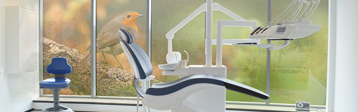 Glasfolie behandelkamer zorginstelling