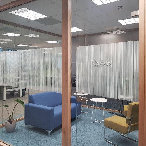 Glasfolie en privacyfolie nieuw pand