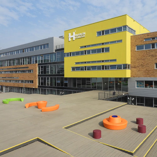 Gevelreclame voor Haarlem College | Blomsma Print & Sign