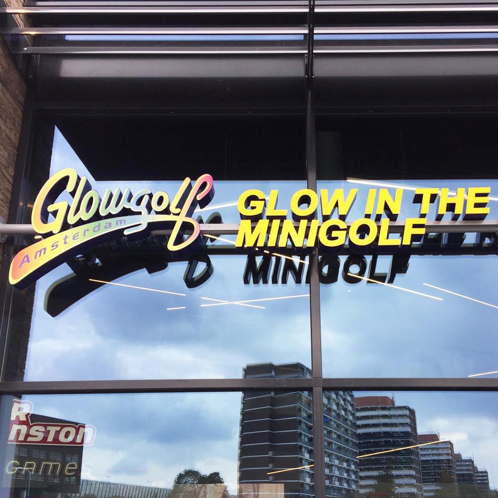 GlowGolf & HollywoodCafe Lichtreclame | Blomsma Print & Sign