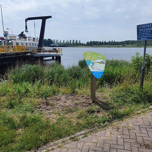Informatiebord 5 E-bikeroute 'Langs de Oevers van het Oer-IJ' door Blomsma Print & Sign