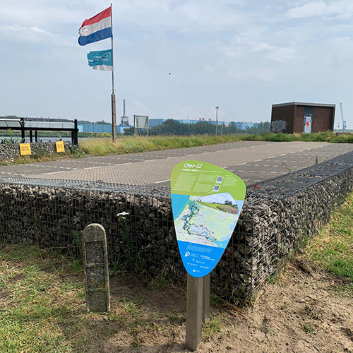 Informatiebord 7 E-bikeroute 'Langs de Oevers van het Oer-IJ' door Blomsma Print & Sign