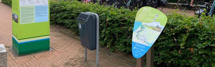 Header Informatiebord E-bikeroute 'Langs de Oevers van het Oer-IJ' door Blomsma Print & Sign