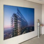 Squid raambekleding en peesdoeken als fotowanden in Rijswijk geplaast door Blomsma Print & Sign